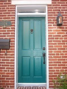 front door colors with red brick house - Google Search