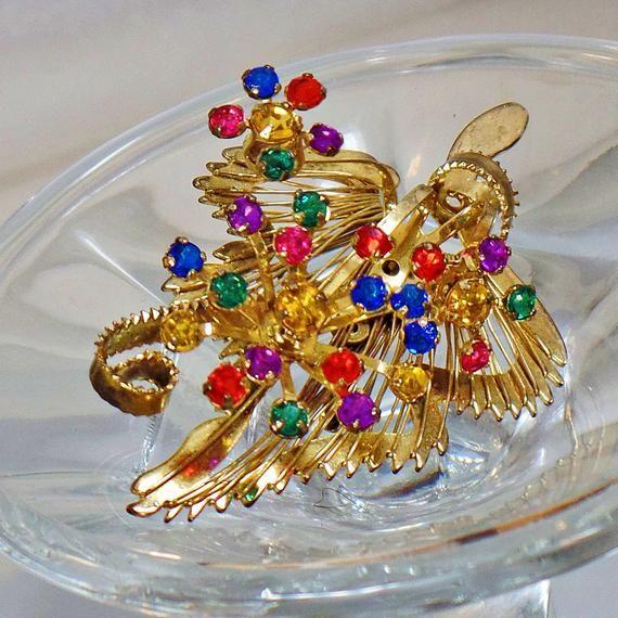 Rhinestone Brooch Jewelry for Women Rhinestone Pin Gold Brooch Easter Brooch Gifts for Her Vintage Brooch Brooches for Women waalaa.