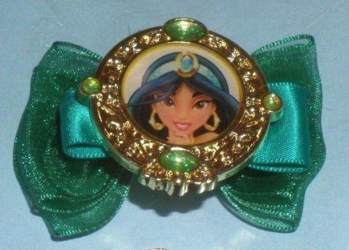 NEW Disney Princess Jasmine Hair Clips Accessory Set EMERALD GREEN Genuine Parks #HERAccessory