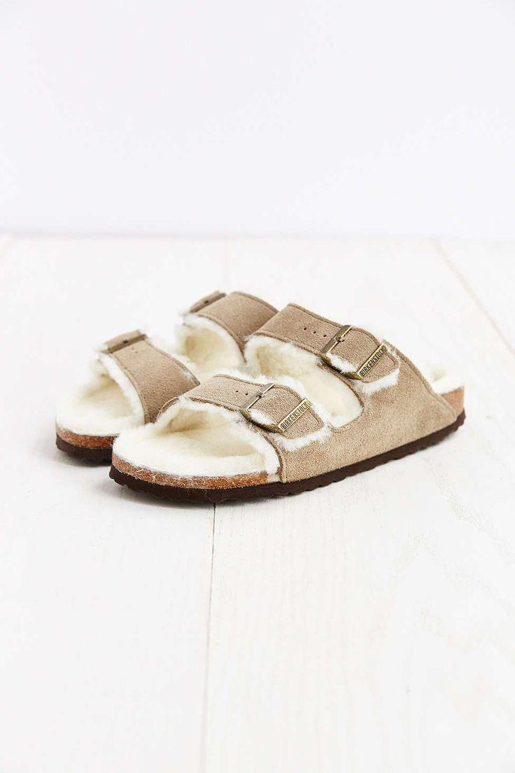 birkenstock arizona shearling taupe suede sandal shoes. Black Bedroom Furniture Sets. Home Design Ideas