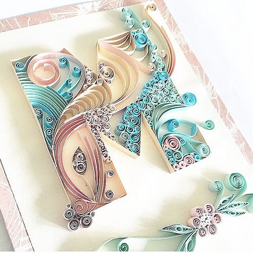 Quilled Typography by Ashley Chiang - Letter M