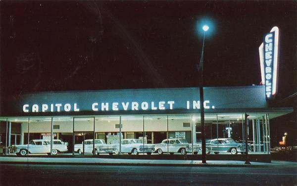 1958 Capital Chevrolet Dealership Austin Texas Chevrolet Dealership Chevrolet Car Dealership Design