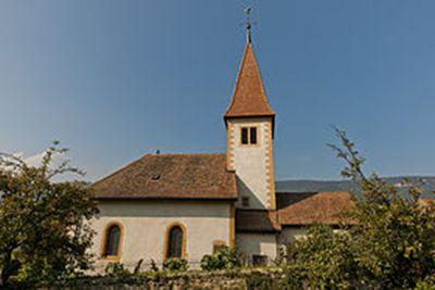 Église réformée Saint-Martin, à Onnens en Suisse.