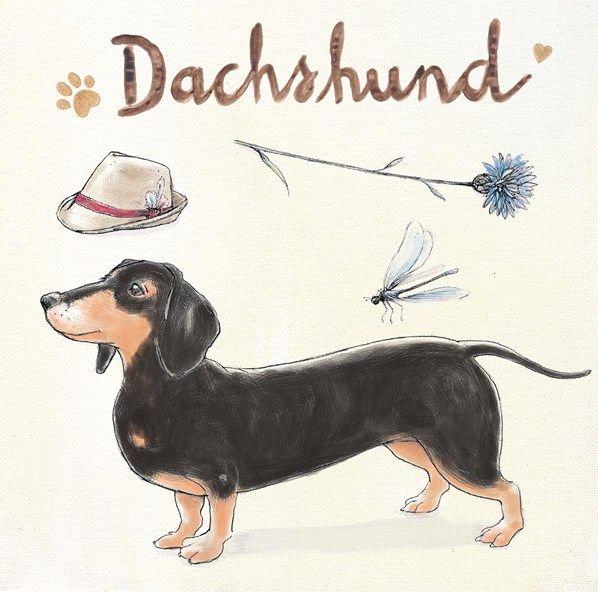 """""""Dachshund Escapades"""" dog-themed original artwork by Kerri Elliott via www.artinmotion.com"""