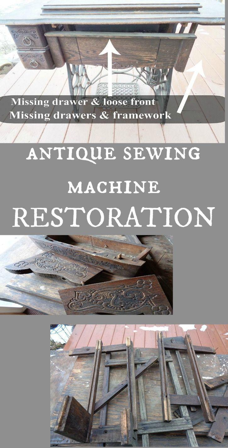 antique singer sewing machine restoration