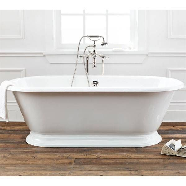 Sandringham 70 Inch Cast Iron Pedestal Bathtub Continuous Rolled