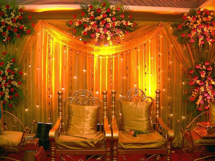 Indian Weddings Serene Mandap Wedding StageIndian