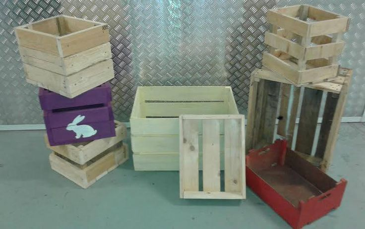 Apple boxes ideal for storage and home decor, used as a toy box etc