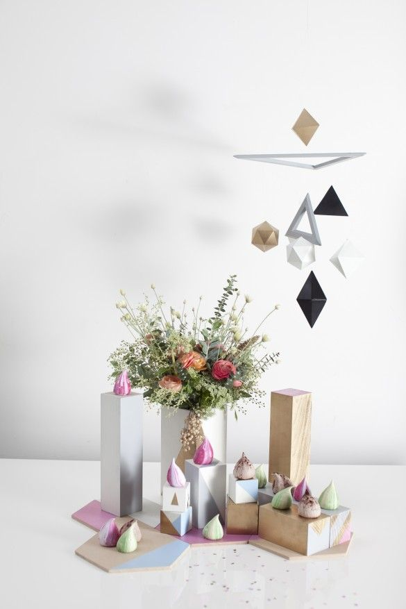 Knot & Pop Weddings - Geometric Goodies - Meringues by Meringue Girls