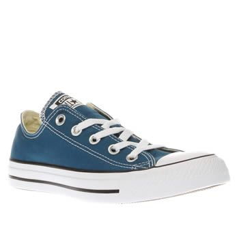 Converse Blue All Star Ox Womens Trainers We just cant get enough of the timeless Chuck Taylor profile, so heres another cool colourway to freshen up your plimsoll collection. The Converse All Star Ox arrives in a blue fabric for versatile st http://www.MightGet.com/january-2017-13/converse-blue-all-star-ox-womens-trainers.asp