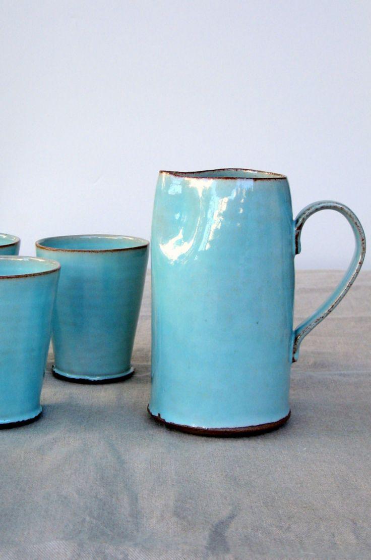 Handmade Ceramic Pitcher | Fresh Pottery on Etsy