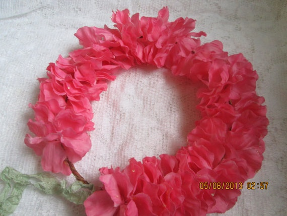 how to make a floral hair wreath