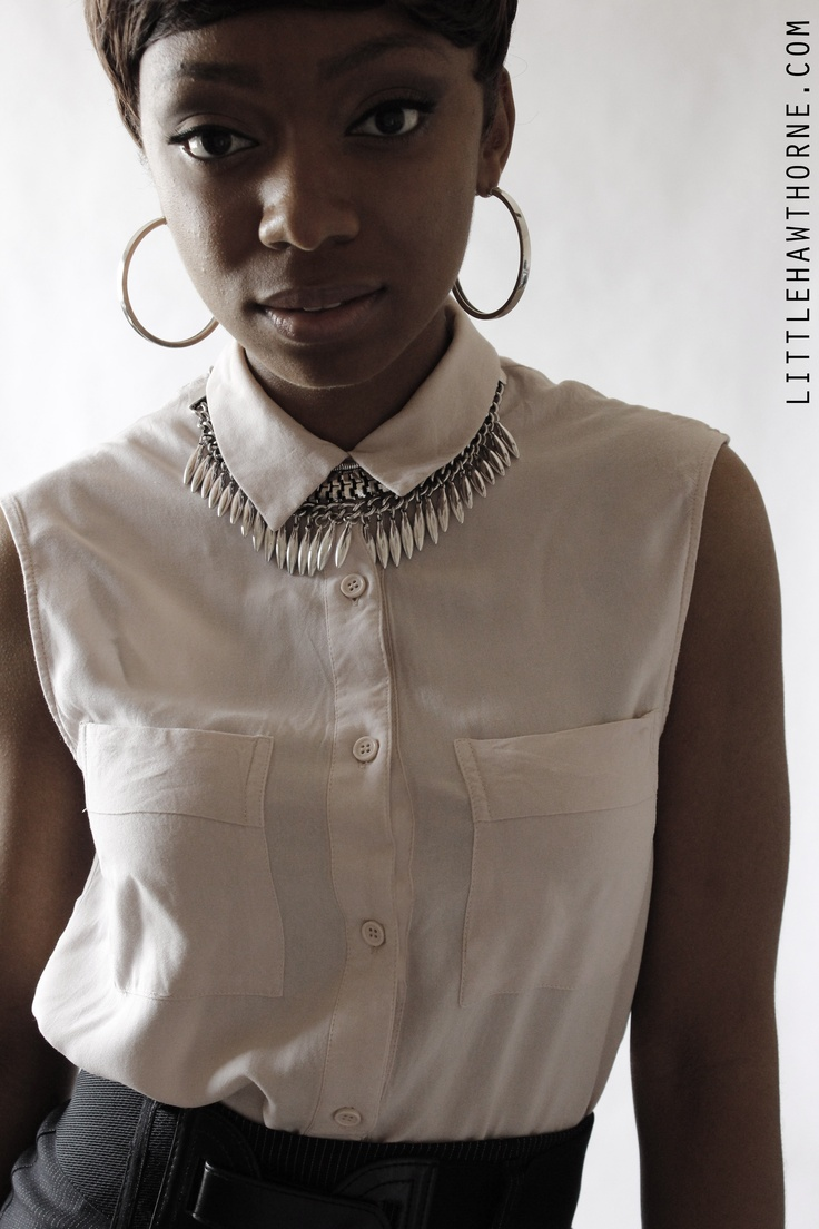 Little Hawthorne | Silver Statement Necklace (Set)