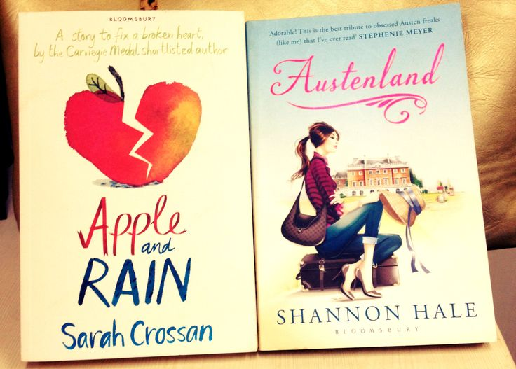 These two Young Adult books are available!  Apple and Rain by Sarah Crossan Austenland by Shannon Hale  #Apple #Rain #Austenland #Austen #Books