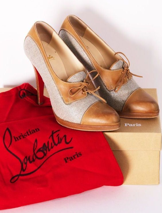 Christian Louboutin Oxfords <3  Luv these but Blk & White would be better ;)