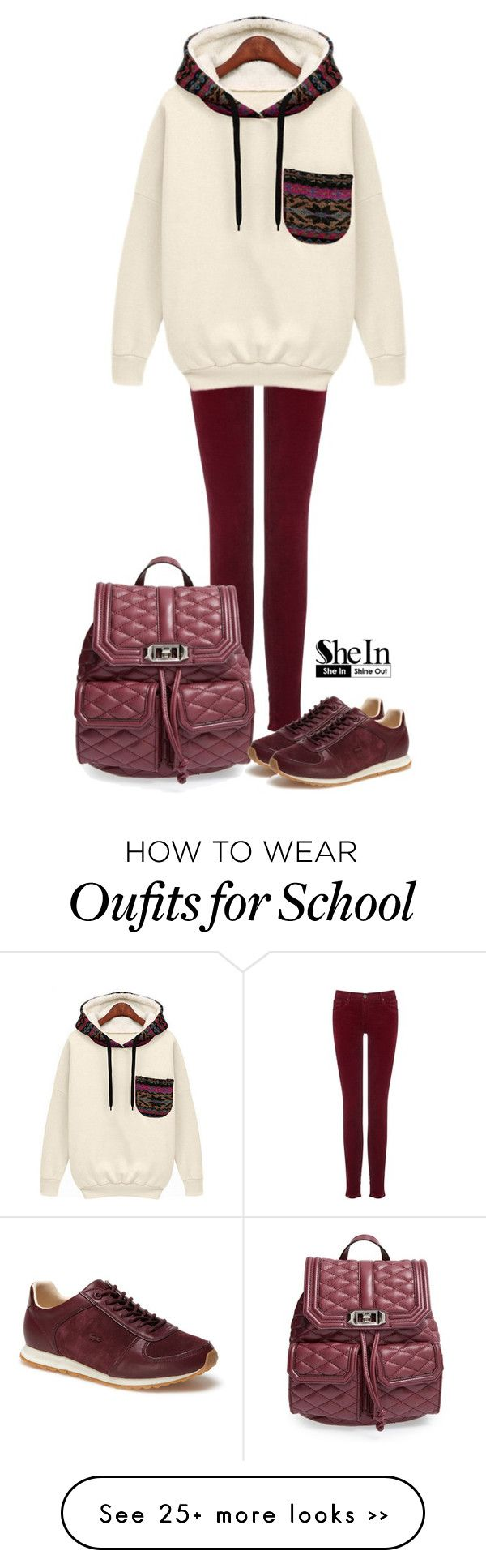 """back to school"" by kafetoo on Polyvore featuring AG Adriano Goldschmied, Rebecca Minkoff and Lacoste"