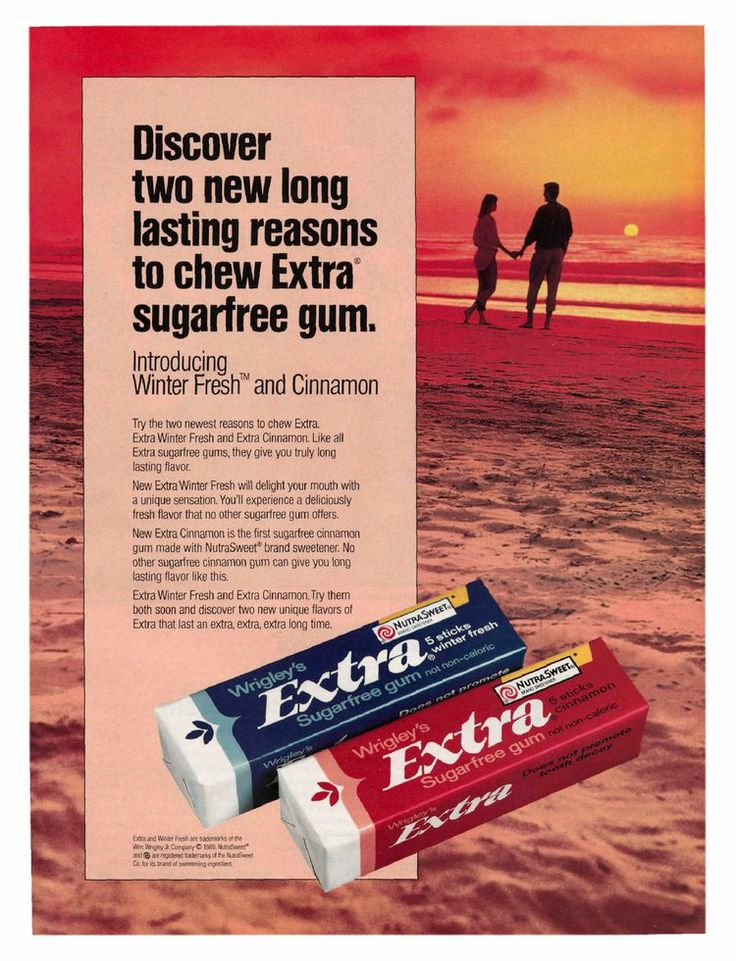 Extra Sugarfree gum (1988)