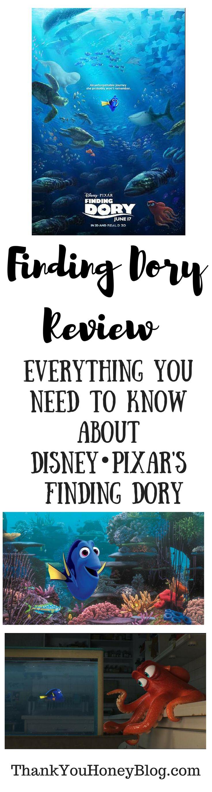 Finding Dory Review, Disney, Disney Pixar Finding Dory, Film, Finding Dory Review, June 19, Movie, Movie Review, review, Trailer, Summer Movies, Thank You Honey, http://thankyouhoneyblog.com