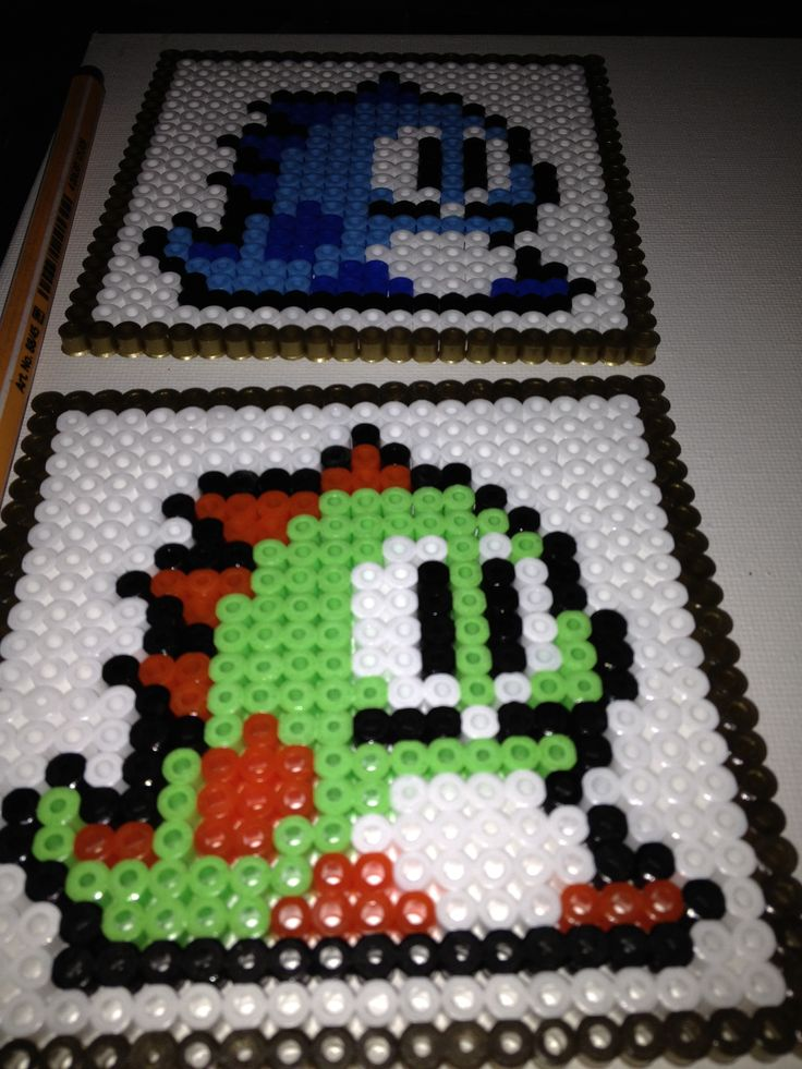 Bubble Bobble perlerbead coasters