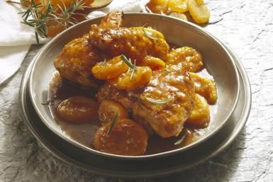 Four Ingredient Easy Apricot Chicken Comes Together in Your Crockpot