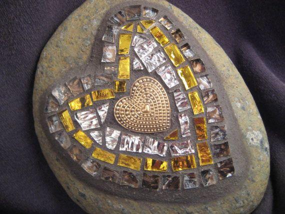 Сердце из золота и серебра, Мозаика Витраж-Бич Стоун