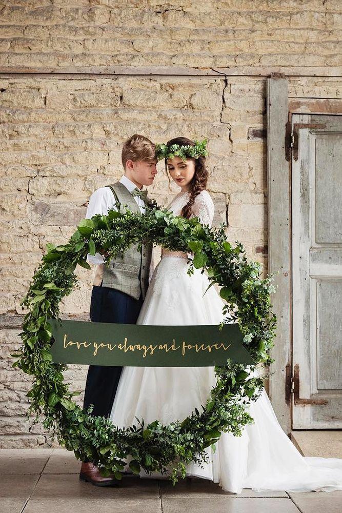 Budget Friendly Wedding Trend: Greenery Wedding Decor ❤ See more: http://www.weddingforward.com/greenery-wedding-decor/ #weddings