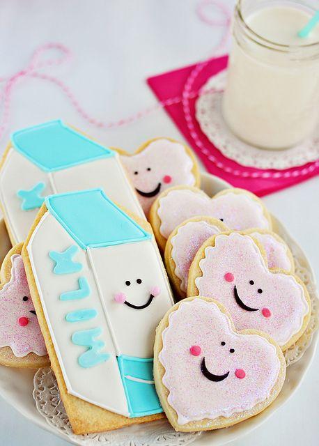 #DIY Milk & Cookie #Cookies #party