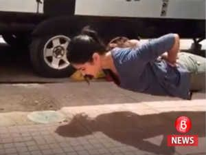What did we just see? Katrina Kaif doing push-ups without using her hands!