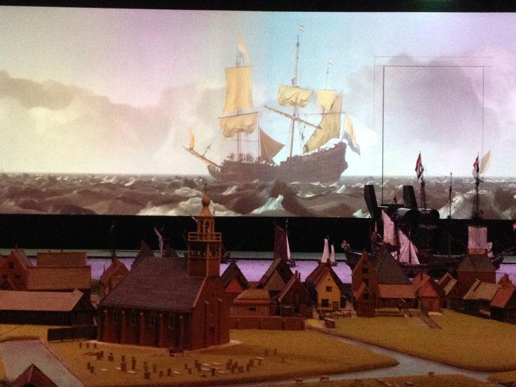 Maquette de Rede van Texel, museum Kaap Skil, Oudeschild in Noord-Holland