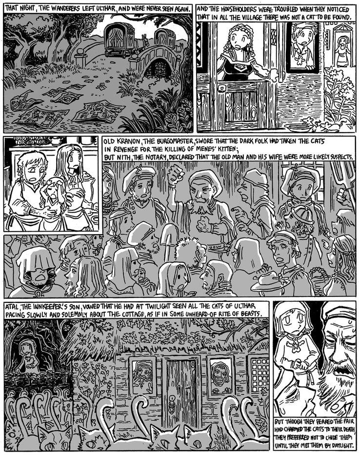 The Cats of Ulthar, Page 6 El maestro, Gatos, H.p.