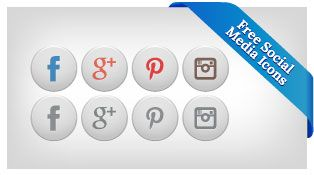 Free White Premium Social Networking Icons For Elegant Themes