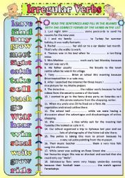 Simple Past Tense ESL Printable Worksheets and Exercises