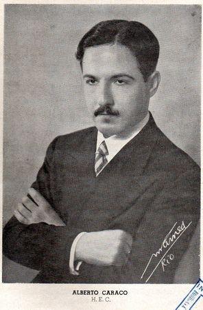 Portrait d'Albert Caraco figurant au frontispice de son ouvrage Inês de Castro, suivi de Les martyrs de Cordoue (Rio de Janeiro: Livraria Geral Franco-Brasileira, 1941)