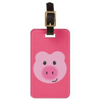 Cute Pink Pig Luggage Tag