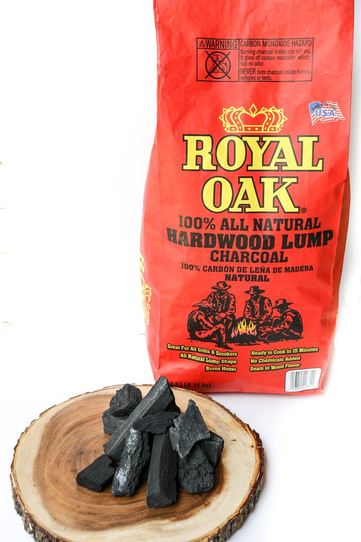 100% All Natural, American Made Royal Oak Hardwood Lump Charcoal
