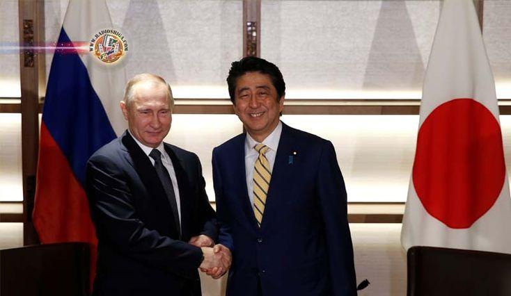Abe e Putin discutem a crise norte-coreana e atividades econômicas. O primeiro-ministro japonês, Shinzo Abe, disse que ele e o presidente russo, Vladimir Pu