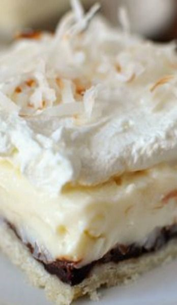 .Chocolate  Coconut Cream Pie Bars - Mel's Kitchen Cafe