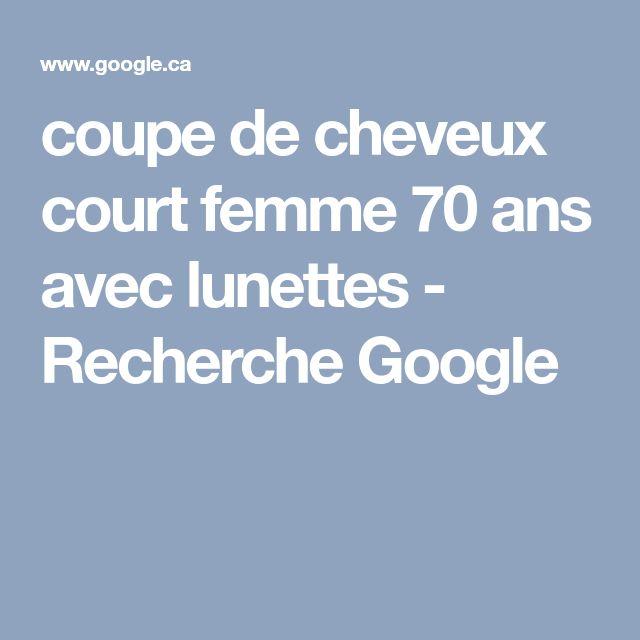 coupe de cheveux court femme 70 ans avec lunettes - Recherche Google