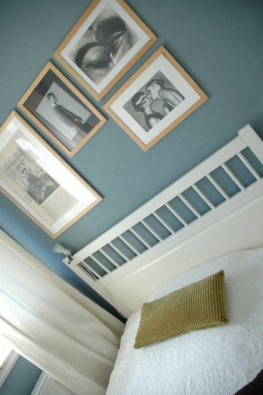 Blau im Schlafzimmer