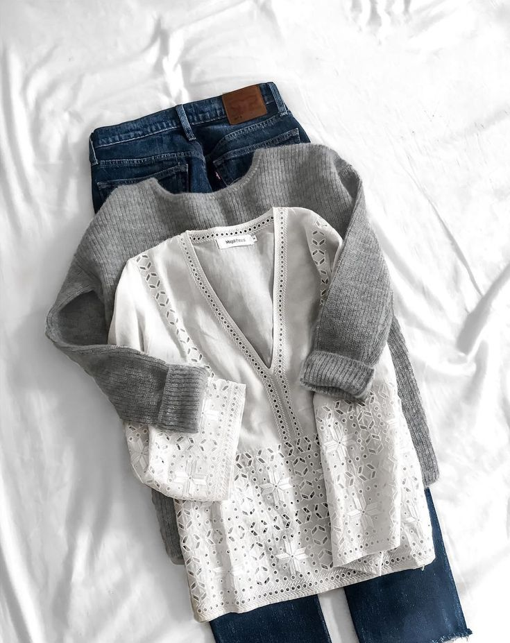 Casual style : Magali Pascal top + Sézane knitted jumper + Levi's denim ♥…