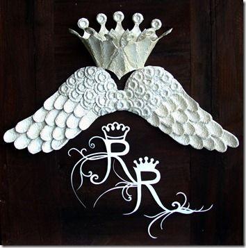 """Le """"regali"""" ali di Rosi Jo... ovvero, come utilizzare i cartoni delle uova in modo creativo e originale! Rosi sei unica.............."""