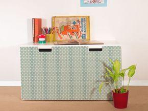 YOURDEA-Moebel-Sticker-fuer-IKEA-Stuva-Bank-Truhe-mit-Motiv-Sterne-Lindgruen-Moebel