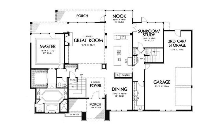 Luxury Floor Plans | ... Style Floor Plan First Floor - 011S-0040 | House Plans and More