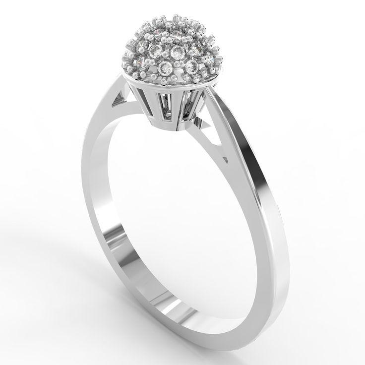 Inel cu diamante The crown of princess Jess