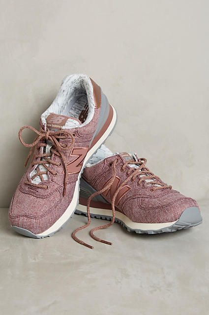 New Blance 574 Rose Gold Sneakers - anthropologie.com