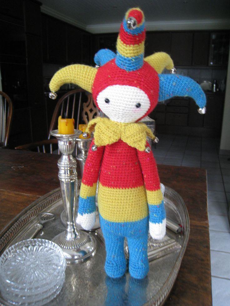 Tim the harlekin made by Karin N. / crochet pattern by lalylala