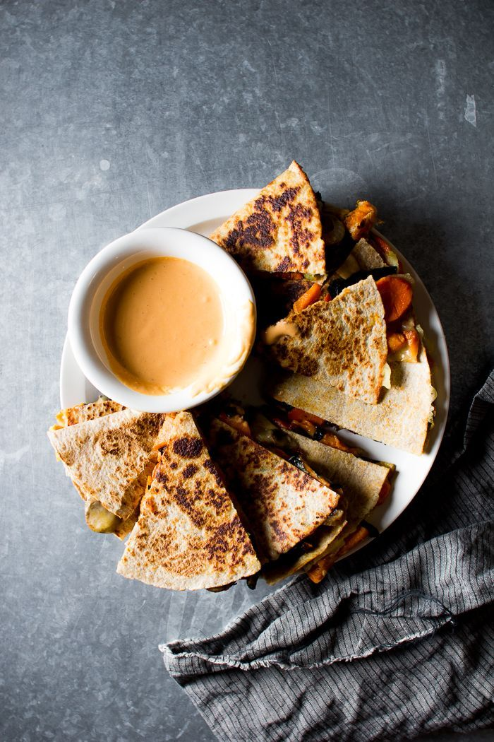 Flourishing Foodie: Veggie Quesadillas with a Tangy Chipotle Lime Sauce