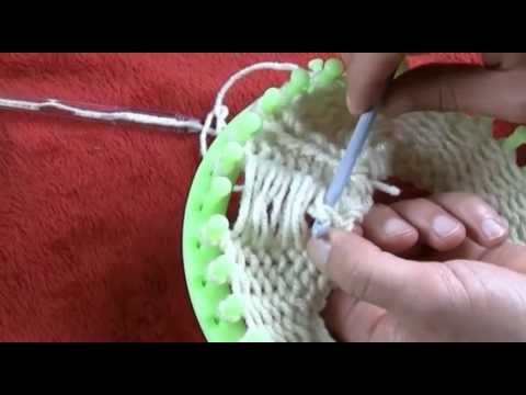 ▶ Loom Knitting - Pearl The Lazy Way Quick - YouTube