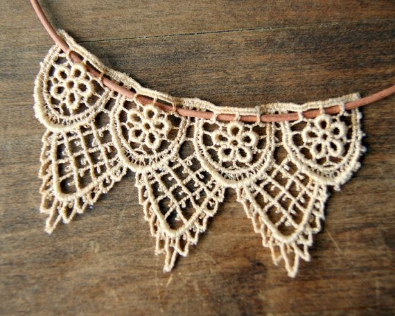 Hey, I found this really awesome Etsy listing at http://www.etsy.com/listing/150423119/leather-and-lace-necklace-tea-dyed-lace