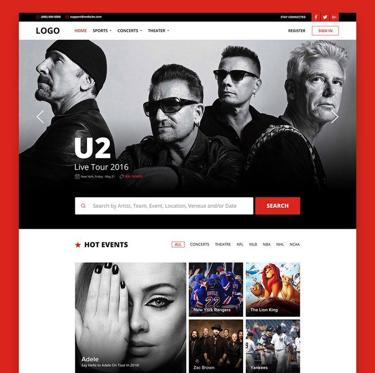 25 best ideas about music website templates on pinterest